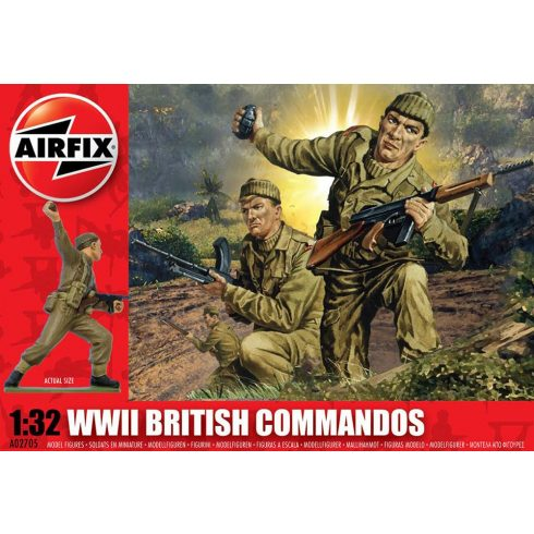 WWII British Commandos figura makett Airfix A02705