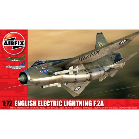 English Electric Lightning F2A repülő makett Airfix A04054