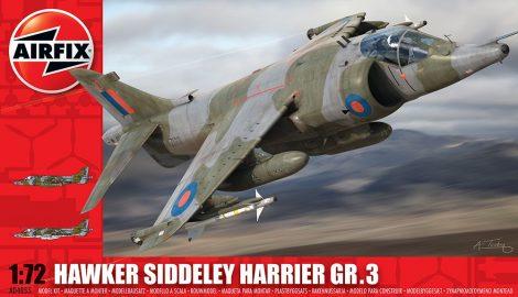 BAE HARRIER GR3 repülő makett Airfix A04055