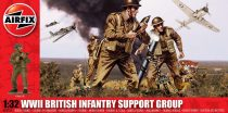 WWII British Infantry Support Group figura makett Airfix A04710