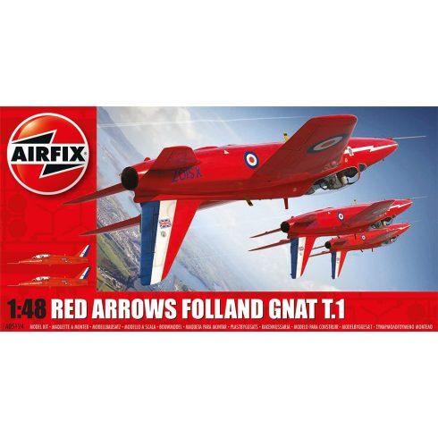 A05124 Red Arrows Gnat repülő makett Airfix