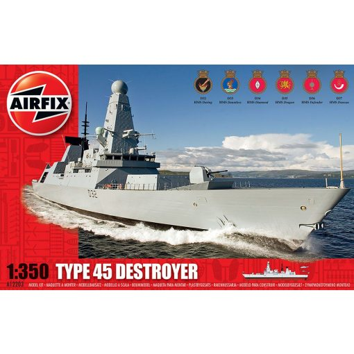 Type 45 Destroyer hajó makett A12203