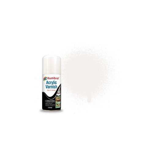 Humbrol NO.49 VARNISH matt akrillakk 150ML hobby spray AD6049
