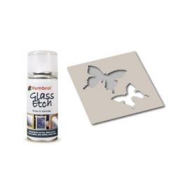 Glass Etch White spray 150ml Humbrol AD7700