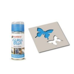 Glass Etch Blue spray 150ml Humbrol AD7702