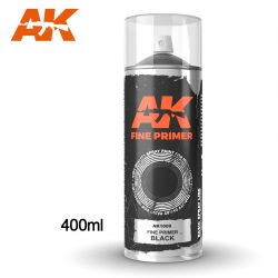 AK-Interactive Fine Primer Black Spray 400 ml AK1009