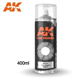 AK-Interactive Fine Primer Grey Spray 400 ml AK1010