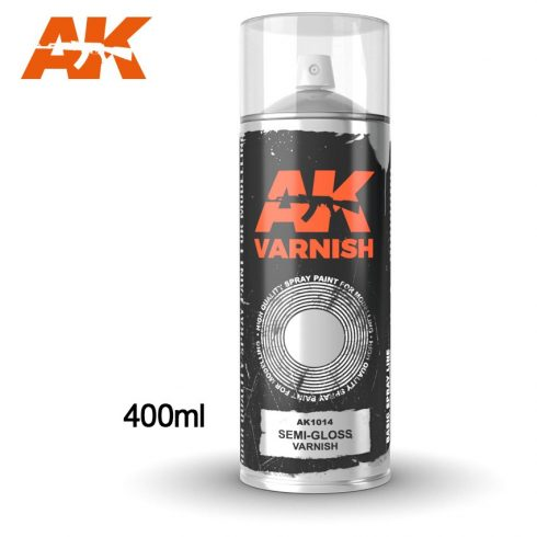 AK-Interactive Semi-Gloss Varnish Spray 400 ml AK1014