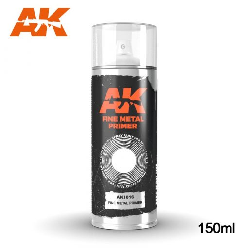 AK-Interactive Fine Metal Primer Spray 150 ml AK1016