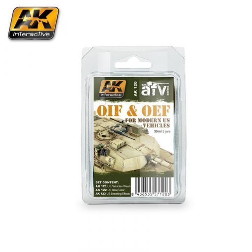 AK-Interactive OIF & OEF - US VEHICLES WEATHERING SET AK120