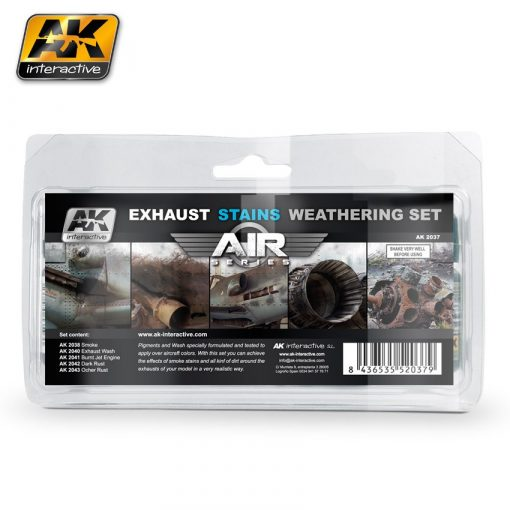 AK-Interactive EXAUSTS & STAINS WEATHERING SET AK2037