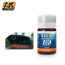 AK-Interactive BROWN STREAKING GRIME FOR RED HULLS  AK304