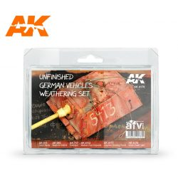 AK-Interactive UNFINISHED GERMAN VEHICLES WEATHERING SET AK4176