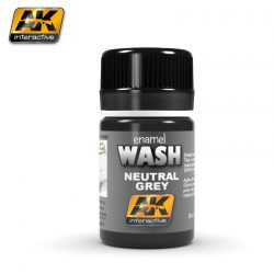 AK-Interactive NEUTRAL GREY FOR WHITE BLACK WASH AK677
