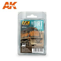 AK-Interactive BASIC DIRT EFFECTS WEATHERING SET TRAIN SERIES AK7020