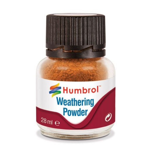 Humbrol AV0008 Weathering Powder Rust 28ml