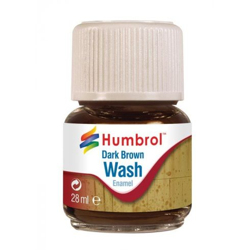 Humbrol Enamel Wash Dark Brown AV0205