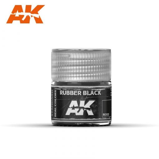 AK-Interactive Real Colors  Rubber Black 10ml akril festék RC022