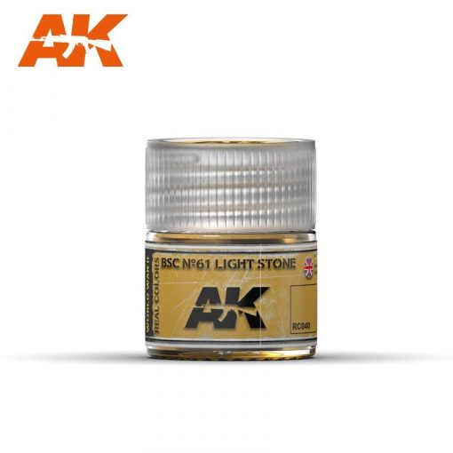 AK-Interactive Real Colors  BSC Nº61 Light Stone 10ml akril festék RC040