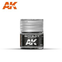 AK-Interactive Real Colors  Nato Black RAL 9021 F-9 10ml akril festék RC082