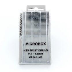 Vallejo Fúrószár készlet Microbox drill set (20) 0.3-1.6mm T01001