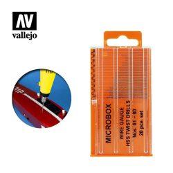 Vallejo Fúrószár készlet Microbox drill set (20) 61-80 T01002