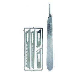 Vallejo Modellező fűrész készlet Saw set #1 with scalpel handle #4 T06001