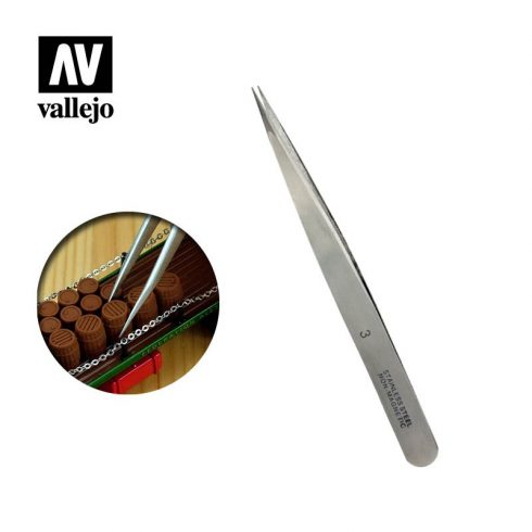 Vallejo Csipesz #3 (Stainless steel tweezers) T12003