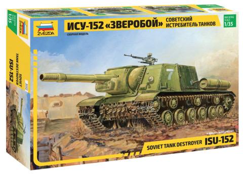 ISU-152 Soviet Self-propelled Gun tank makett Zvezda 3532