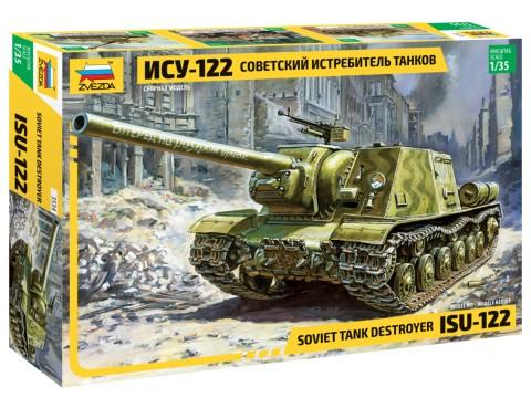 ISU-122 tank makett Zvezda 3534