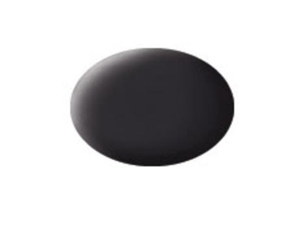 Aqua tar black matt makett festék Revell 36106