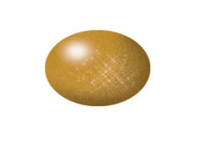 Aqua brass metallic makett festék Revell 36192