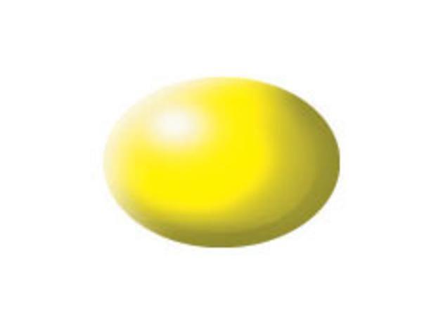 Aqua luminous yellow silk makett festék Revell 36312