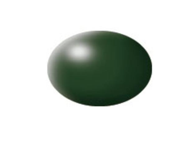 Aqua dark green silk makett festék Revell 36363