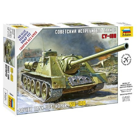 Zvezda Soviet Self-propelled Gun SU-100 1:72 (5044) tank makett
