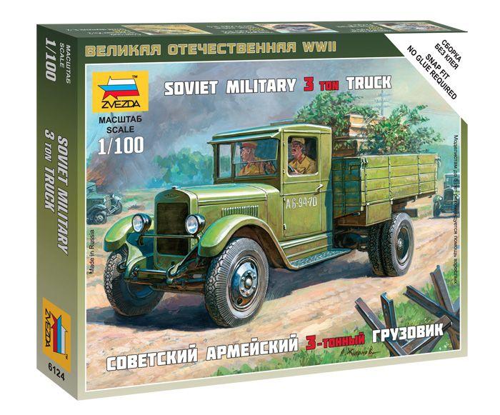 Soviet Truck ZIS-5 katonai jármű makett Zvezda 6124