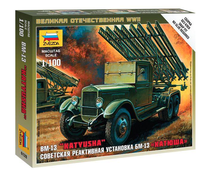 "BM-13 ""Katyusha"" katonai jármű makett Zvezda 6128"