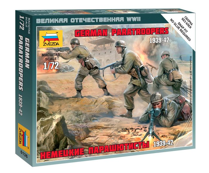 German Paratroops 1939-42 figura makett Zvezda 6136