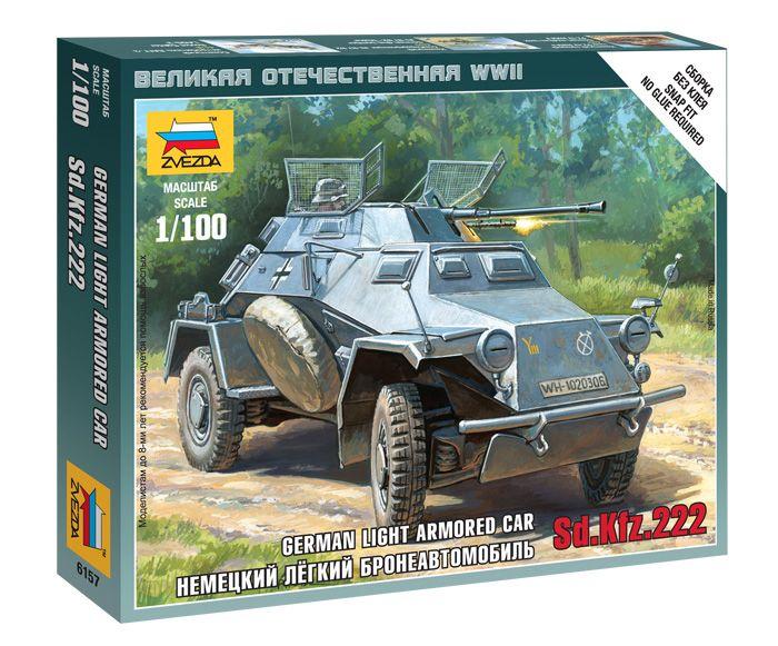 Sd.Kfz armored car katonai jármű makett Zvezda 6157