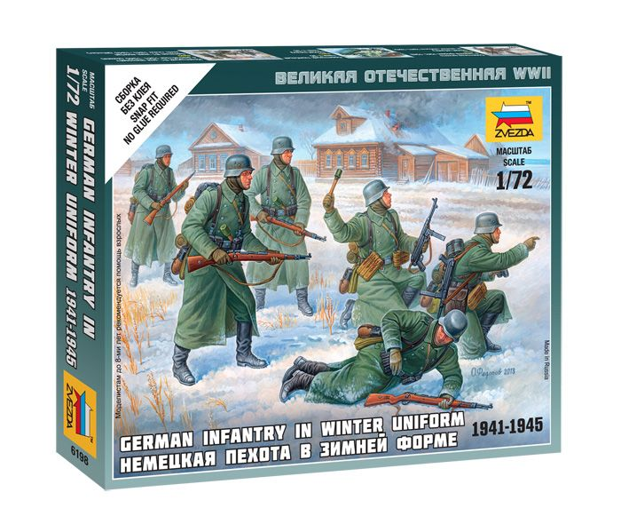 German Infantry (winter uniform) figura makett Zvezda 6198