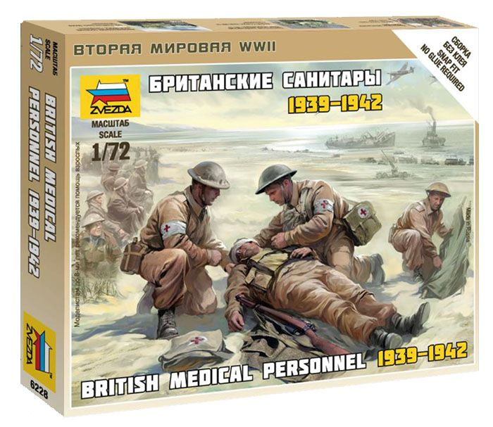 British Medic Team 1939-1942 figura makett Zvezda 6228