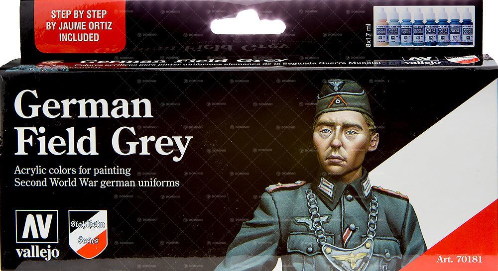 German Field Grey Uniform festék szett Vallejo 70181