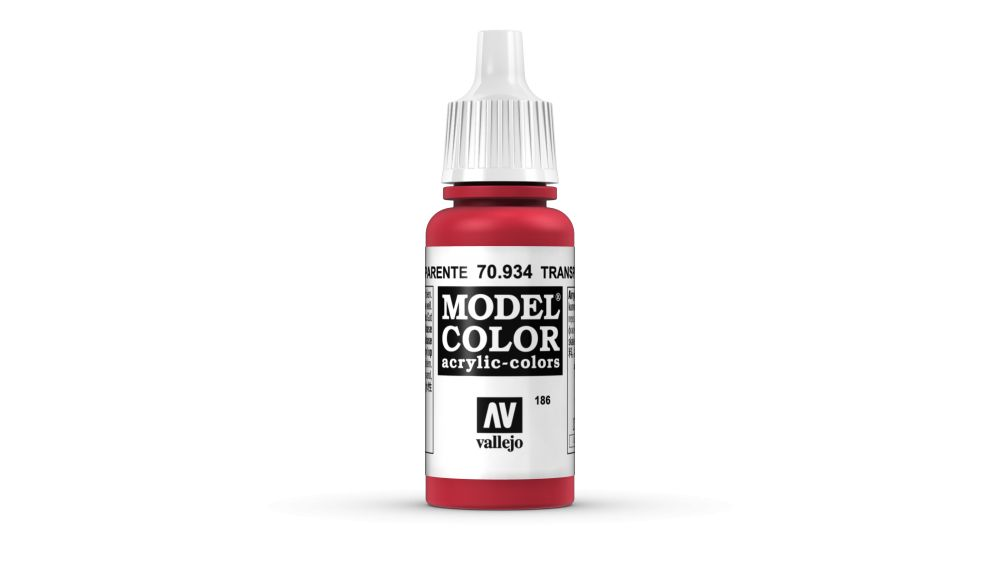 186 Red Transparent akrill festék Vallejo 70934