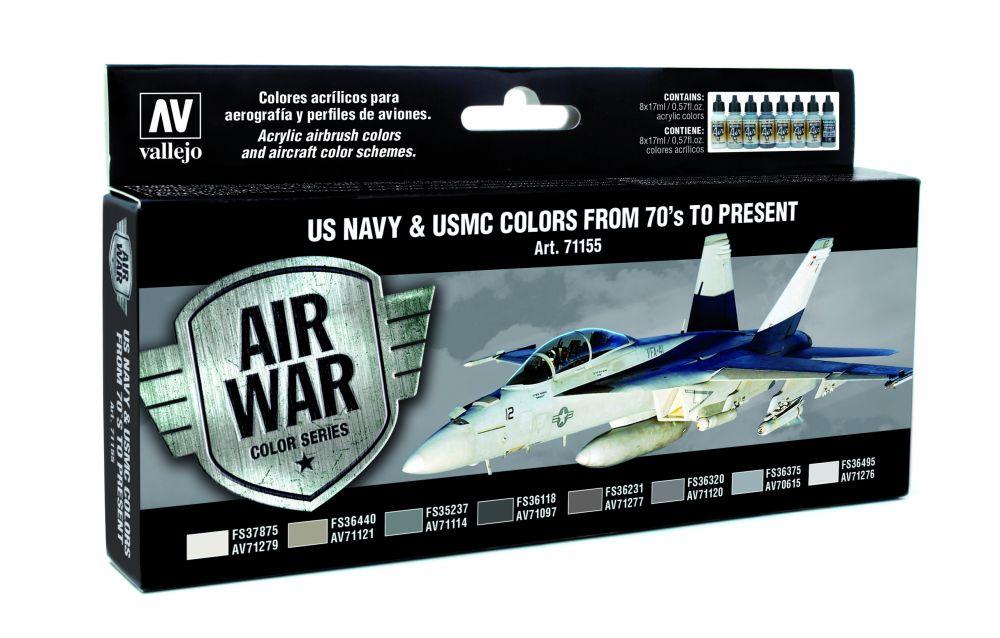 US NAVY & USMC Colors from 70s to present festék szett Vallejo 71155
