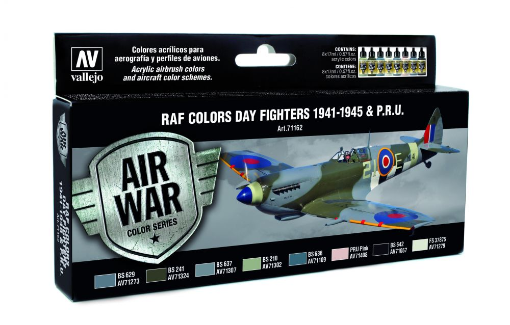 RAF Colors Dary Fighters 1941-1948 & PRU festék szett Vallejo 71162