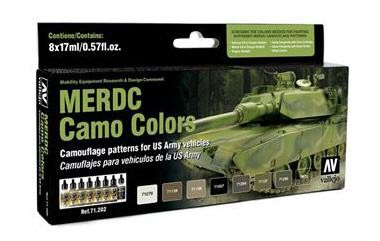MERCD Camo Colors festék szett Vallejo 71202