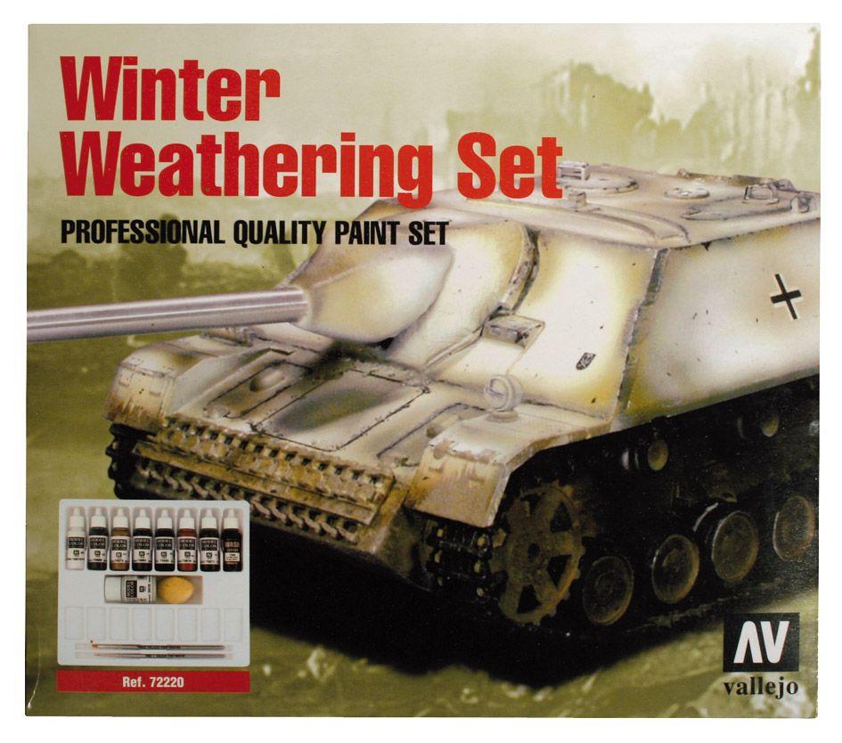 Winter Weathering Set Téli Festést öregítő festékes szett vallejo