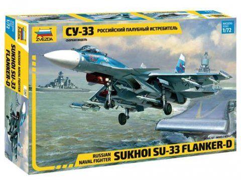 Sukhoi Su-33 Flanker-D repülő makett Zvezda 7297
