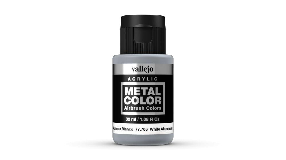 Vallejo Metal Color White Aluminium festék 32 ml 77706