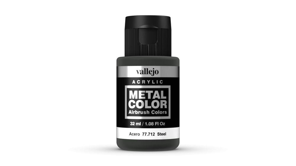 Vallejo Metal Color Steel festék 32 ml 77712